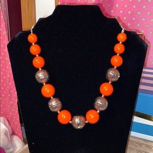 Beautiful Orange Necklace with Detailed design!